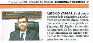 Nombramiento Antonio Vargas, 10 de julio de 2011